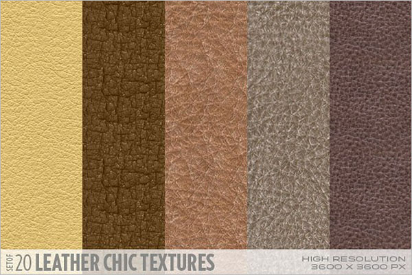 Leather Chic Textures Design