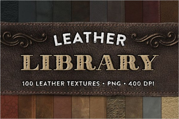 Leather Library Textures Design