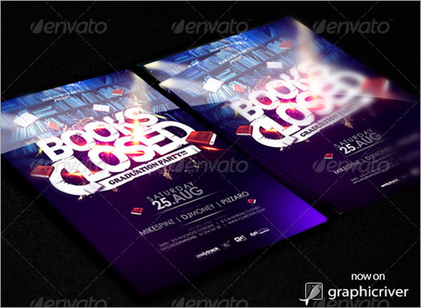 Memorial Graduation Flyer Template