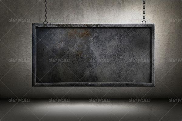 Metal Frame Hanging Poster Templates