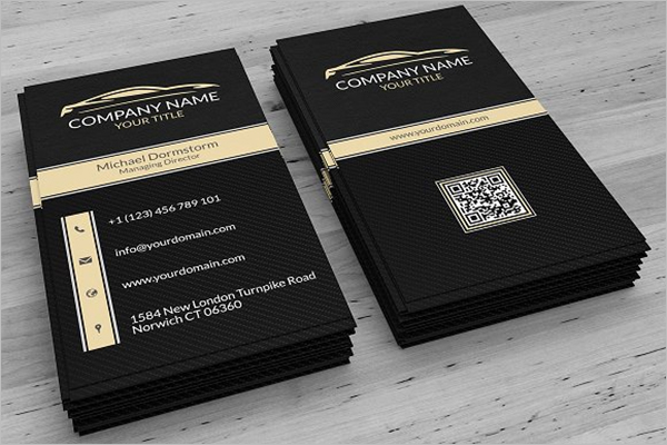Minimal QR Code Business Card