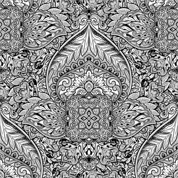 Minimal Vintage Floral Texture