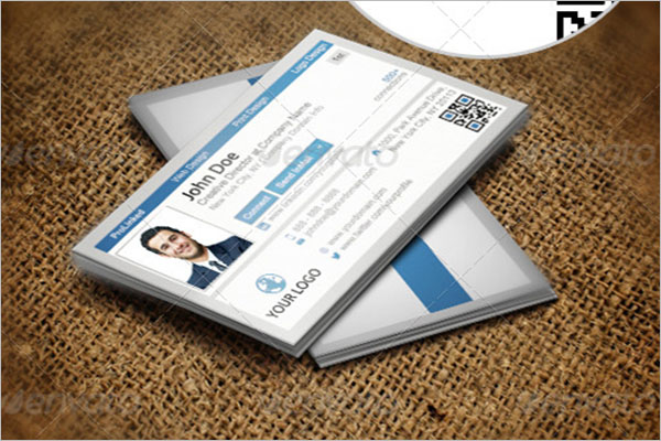 Modern QR Code Business Card