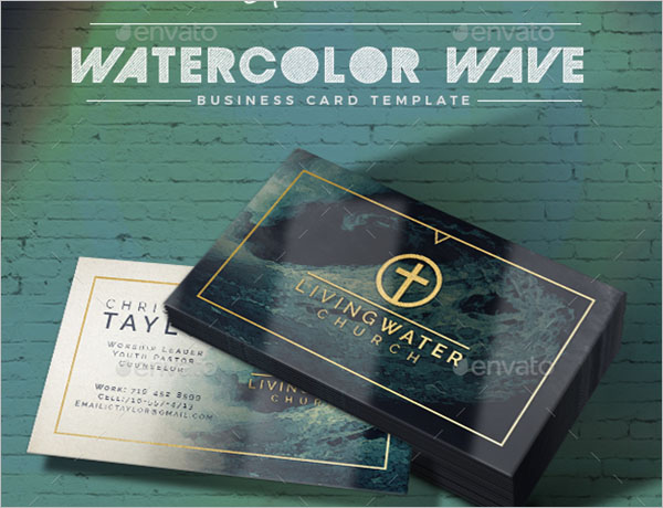 Modern Watercolor Business Card Template