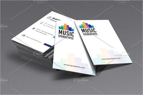 Music Business Card Design
