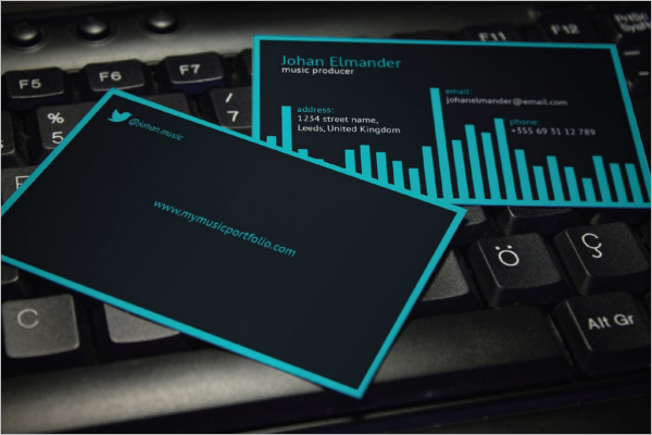Music Business Card Template Word