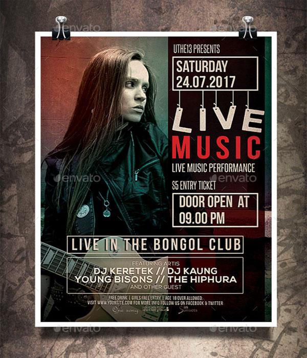 Music Hanging Poster Design