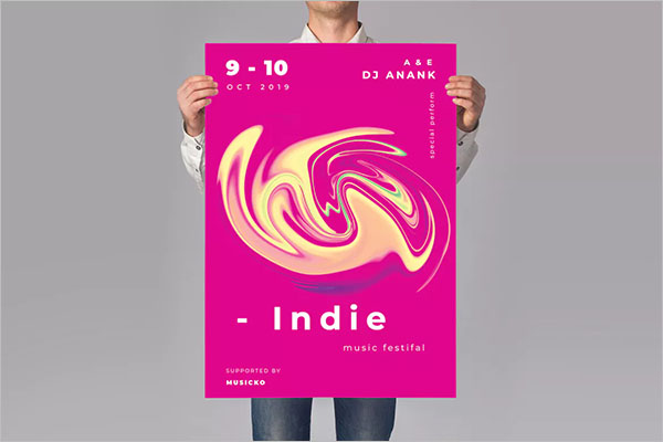 Music Indie Poster Design