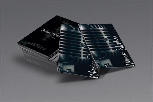 Music Studio Singer Business Card Design.png
