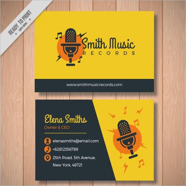 Music Singer Business Card Design