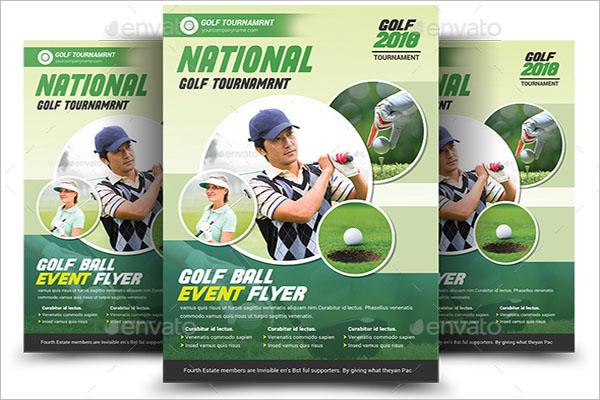 National Golf Flyer Template