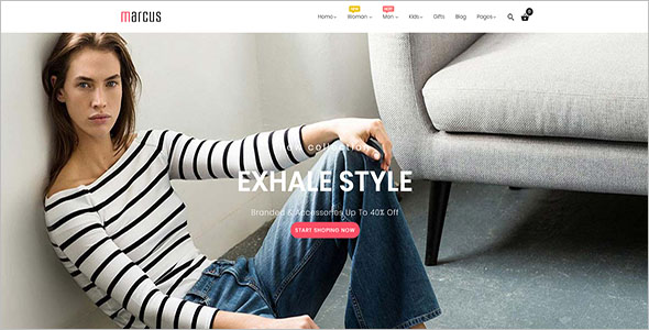 Online Magento web store template