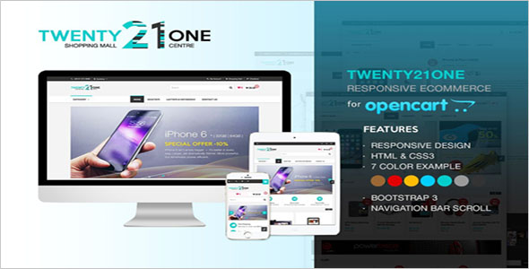 Opencart theme forShopping Mall
