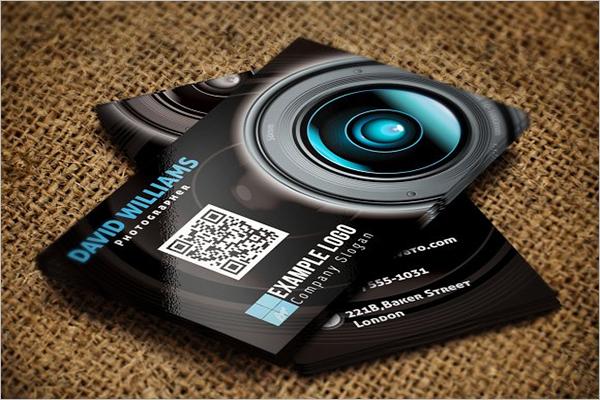 Photographer QR Code Business Card