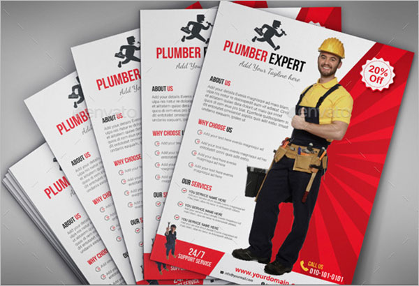 Plumber Advertisement Flyer Template