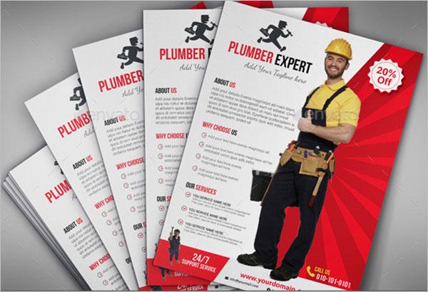 Plumber Advertisement Flyer Template