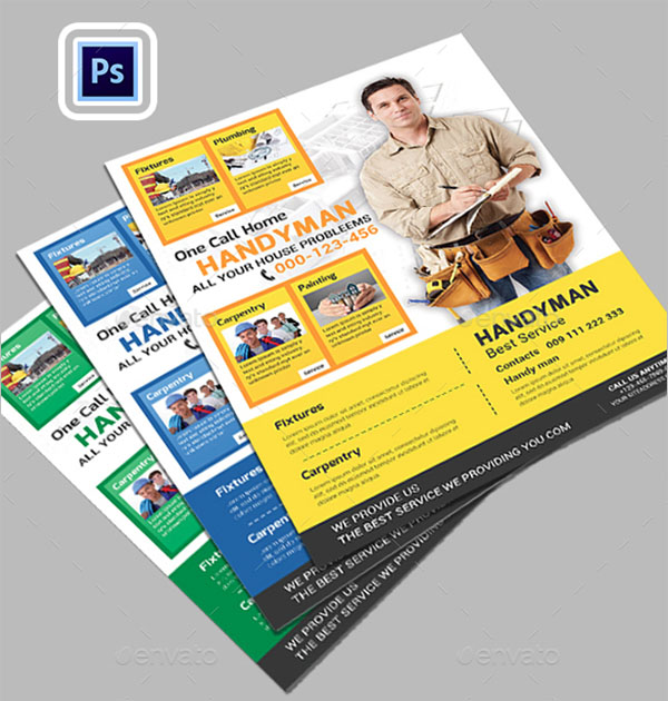 Plumber Flyer Photoshop Template