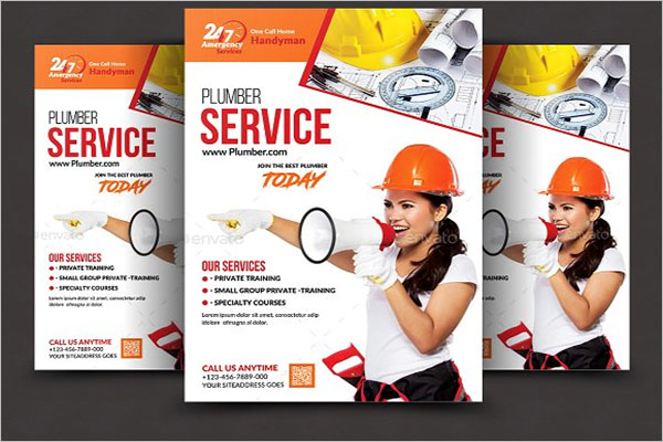 Plumber Flyers Bundle Template