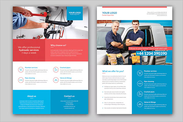 Plumbers Flyer Example Template