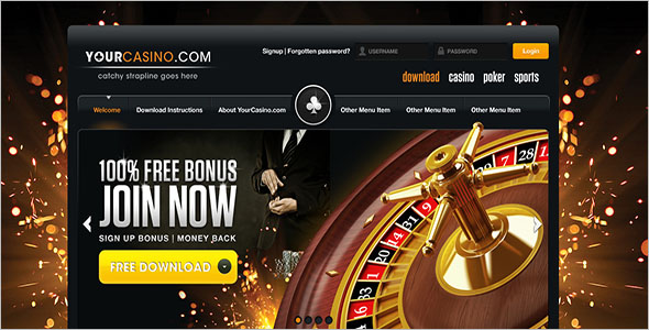 Poker Website WordPress Theme