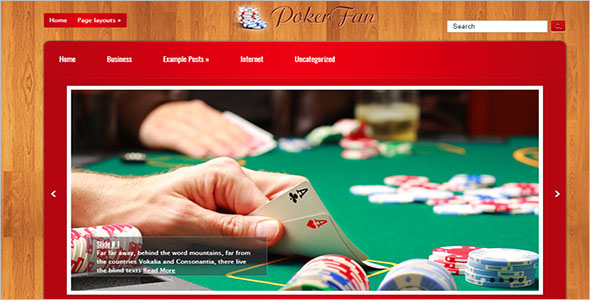 Poker WordPress Theme Free Download