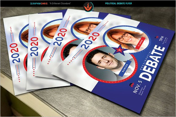 Political Debate Flyer Template