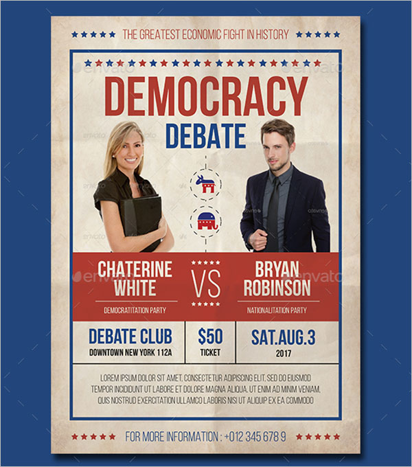 Political Flyer PSD Template