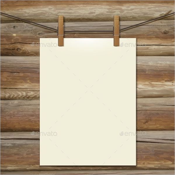 Poster Hanging Tape Template