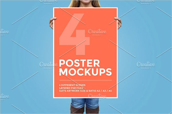 Poster Mockup Bundle Template
