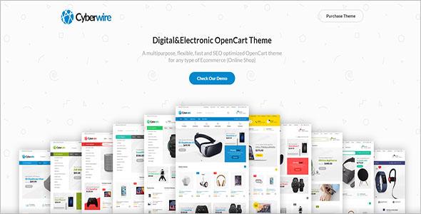 Premium OpenCart Marketplace Theme