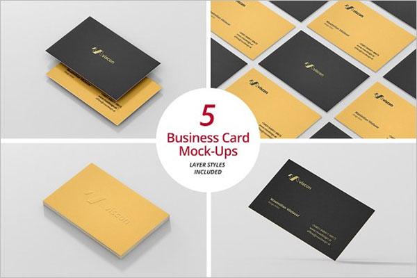 Premium Staples Business Card Template