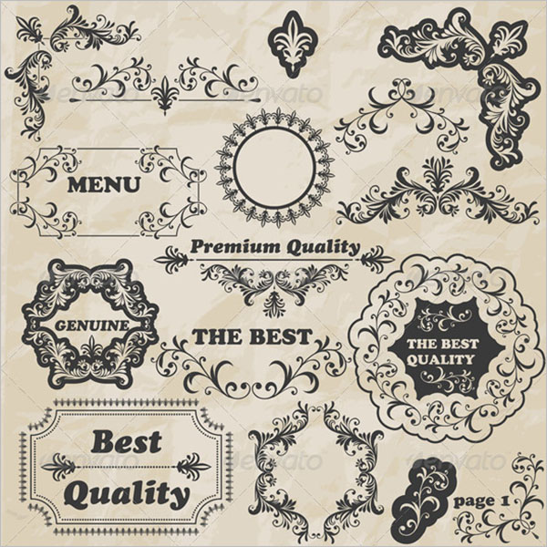 Premium Vintage Floral Template