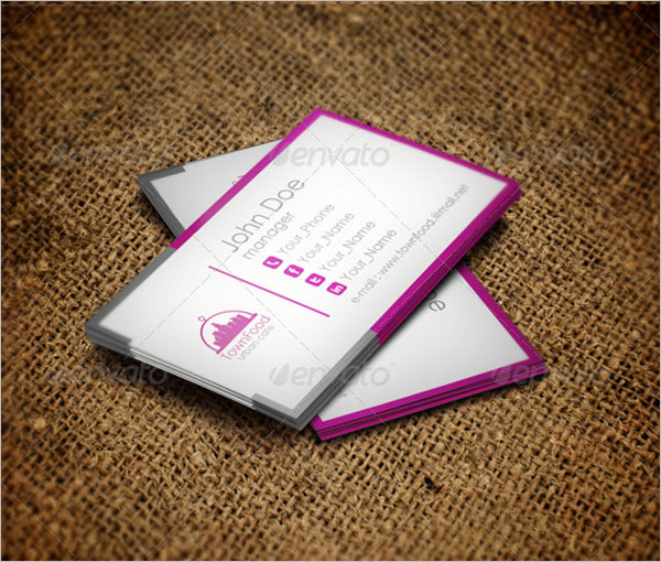 Printable Catering Business Cards Template