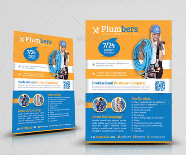 Printable Plumbers Flyer Template