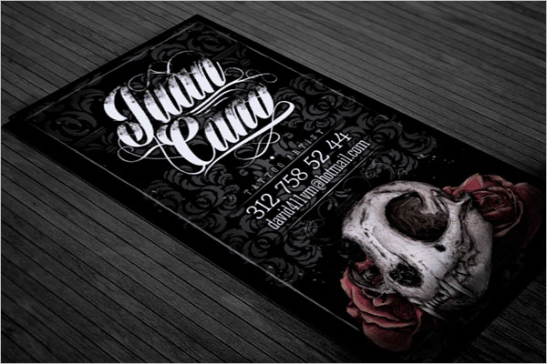 Printable Tattoo Business Card