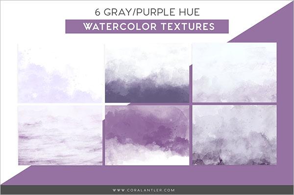 Purple Watercolor Texture Design