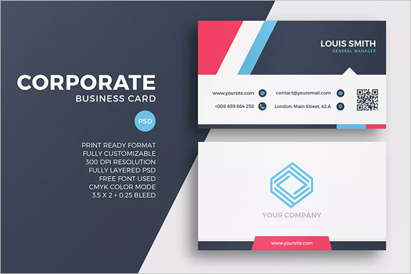 QR Code Business Card Design