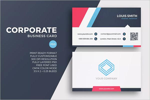QR Code Business Card Design