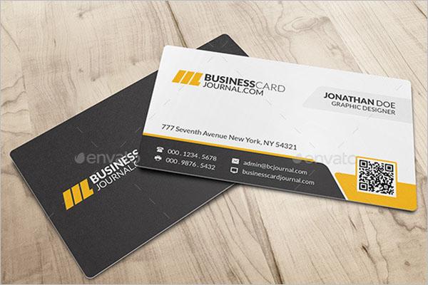 QR Code Business Card Mockup