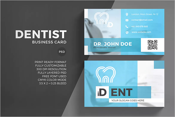 QR Code Business Card Template PSD
