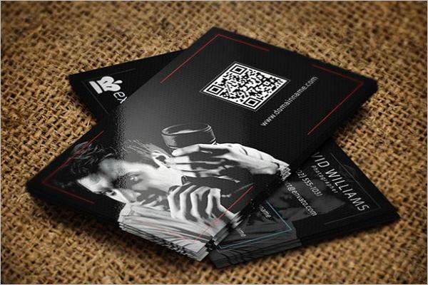 QR Code Digital Business Card Design