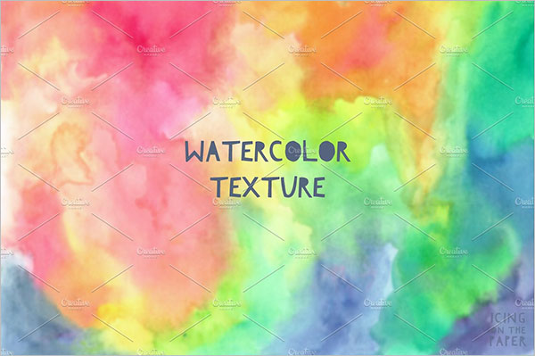 Rainbow Color Water Texture