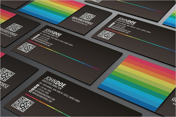Rainbow QR Code Business Card