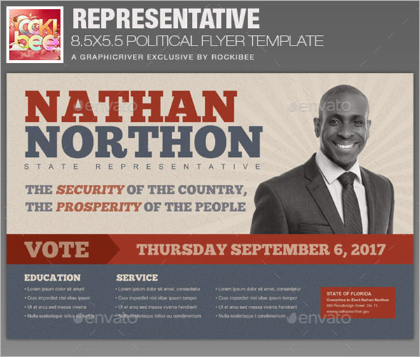 Representative Political Flyer Template