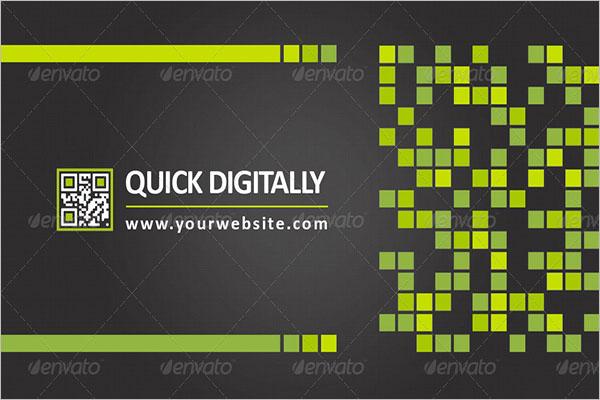 Response QR Code Business Cards Design