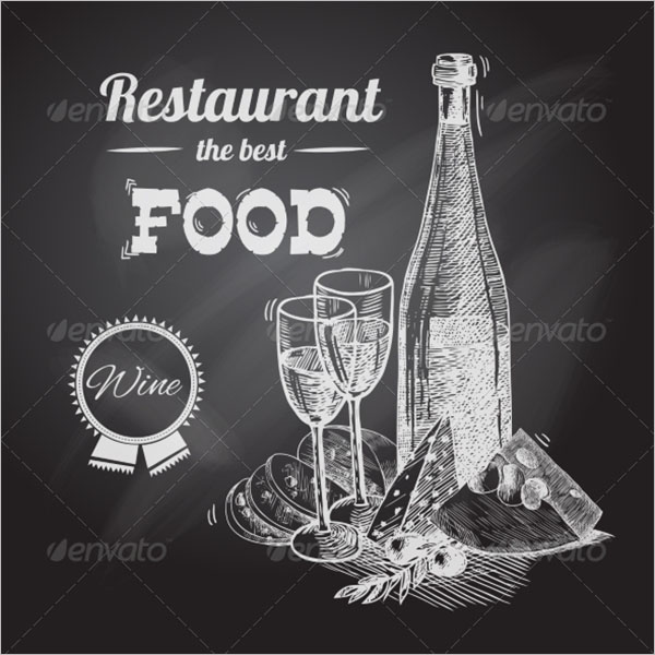 Restaurant Hand Drawn Poster