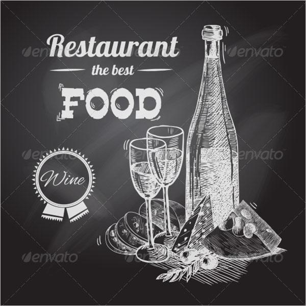 Restaurant Hand Drawn Poster