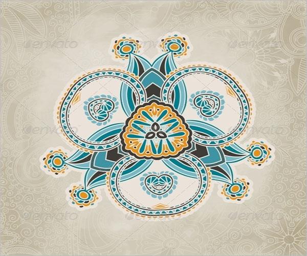 Retro Floral Wallpaper Texture