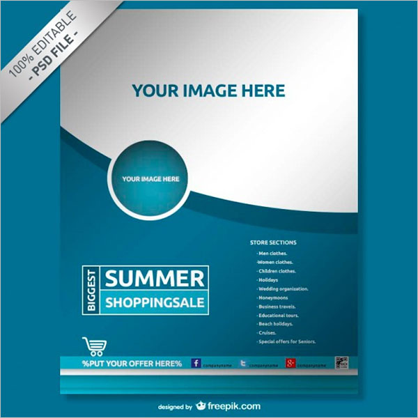 Sample Creative Brochure Design PSD