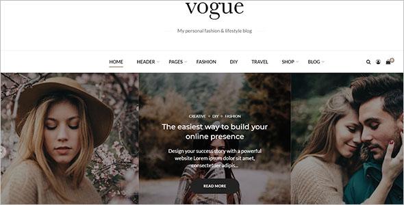 Sample Fashion Blog Theme